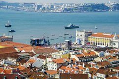 Lisbon and rio tejo Stock Photo