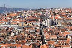 Lisbon and the river Royalty Free Stock Image