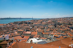 Lisbon with river Tagus Royalty Free Stock Image
