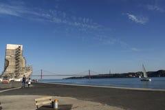 Lisbon river Tejo shore Stock Photo