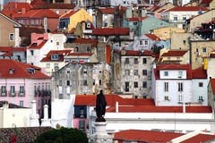 Lisbon roof Royalty Free Stock Images