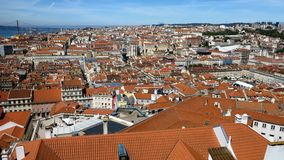 Lisbon Roof Panoramic View Royalty Free Stock Images