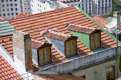 Lisbon roof Stock Images