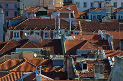 Lisbon roofs Stock Photo