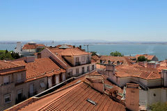 Lisbon roofs, Portugal Royalty Free Stock Images