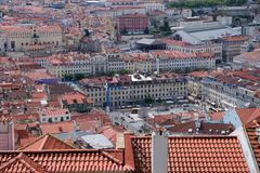 Lisbon roofs - Rossio Square of Lisbon Stock Photography