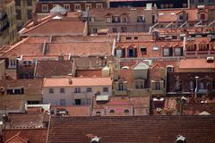 Lisbon roofs Stock Images