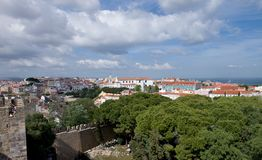 Lisbon roofs - Royalty Free Stock Photography