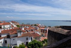 Lisbon roofs Royalty Free Stock Images
