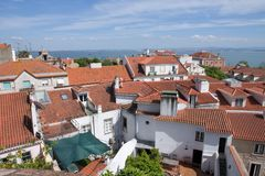 Lisbon roofs - Stock Photography