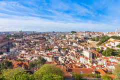 Lisbon rooftop from Sao Jorge castle viewpoint  in Portugal Stock Photos
