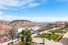 Lisbon rooftop from Sao Pedro de Alcantara viewpoint - Miradouro Stock Photo