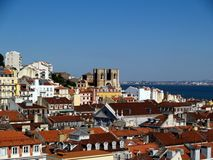 Lisbon rooftops. Royalty Free Stock Photography