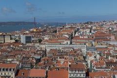 Lisbon Rooftops Royalty Free Stock Photos