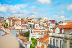 Lisbon rooftops and traditional architecture royalty free stock image
