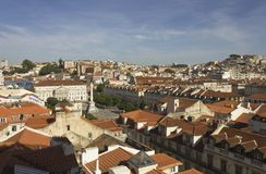 Lisbon Rossio Square overview Royalty Free Stock Photo