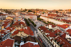 Lisbon , Rossio Square Royalty Free Stock Photos