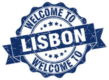 Lisbon round ribbon seal Stock Images
