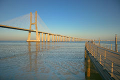 Lisbon's bridge Royalty Free Stock Photos