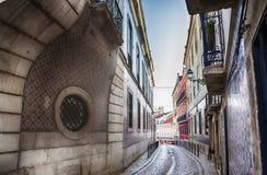Lisbon's city street Royalty Free Stock Photos