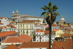 Lisbon's downtown. The typical Alfama in Lisbon - Portugal Royalty Free Stock Photo