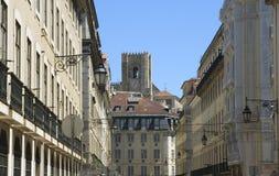 Lisbon's downtown Royalty Free Stock Photos