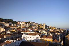 Lisbon's downtown. View of Lisbon's downtown and its typical houses Royalty Free Stock Image
