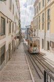 Lisbon's Gloria funicular in Bairro Alto - Lisbon Stock Photo