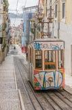Lisbon's Gloria funicular in Bairro Alto - Lisbon Stock Photos