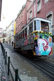 Lisbon`s tram royalty free stock photo