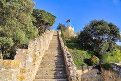 Lisbon, Scenic Saint George Castle stock photo