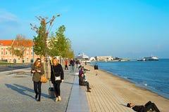 Lisbon seafront royalty free stock photos