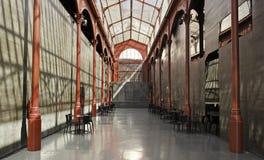 Lisbon shopping arcade. Detail of an empty corridor Stock Image