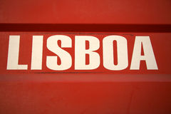 Lisbon sign in Portugal Stock Photography