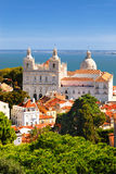 Lisbon sikt arkivbild