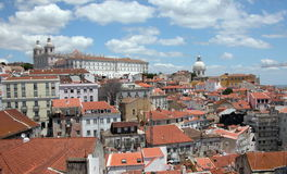 Lisbon skyline. Roofs and churches of the Lisbon skyline Stock Photography