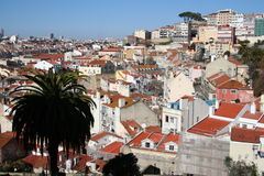 Lisbon skyline. Lisbon seen from the Casle hill Royalty Free Stock Image