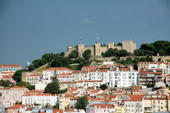 Lisbon skyline with castle of St George Royalty Free Stock Photography