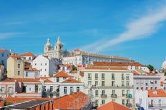 Lisbon skyline including Saint Vicente de Fora Monastery, Portu Royalty Free Stock Photos
