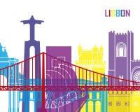 Lisbon skyline pop Royalty Free Stock Photo