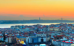 Lisbon skyline, Portugal stock photos