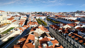 Lisbon skyline from Santa Justa Lift, Portugal Royalty Free Stock Images