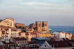 Lisbon Skyline at Sunset Royalty Free Stock Photos