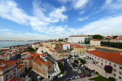 Lisbon Skyline and Tejo River, Lisbon, Portugal Royalty Free Stock Photography