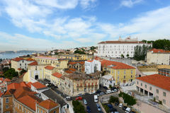 Lisbon Skyline and Tejo River, Lisbon, Portugal Stock Images