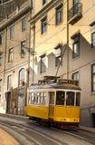 lisbon spårvagn fotografering för bildbyråer