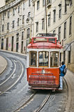 Lisbon spårvagn Arkivbild
