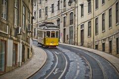 Lisbon spårvagn Royaltyfri Foto