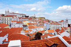 Lisbon spring skyline Royalty Free Stock Photo