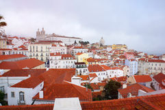 Lisbon spring skyline Royalty Free Stock Photos